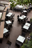 Contemporary restaurant from top view — Stock Photo