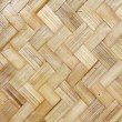 Yellow Thai bamboo wicker background pattern — Stock Photo #18311473