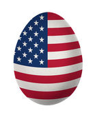 Colorful US flag Easter egg isolated on white background — Foto Stock