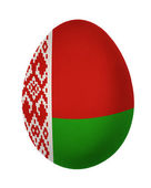 Bunte belarus flag-osterei isoliert auf weißem hintergrund — Stockfoto