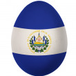 Colorful El Salvador flag Easter egg isolated on white background - Stock Photo