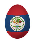 Colorful Belize flag Easter egg isolated on white background — Stock Photo