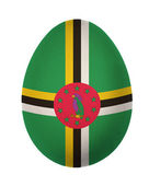 Colorful Dominica flag Easter egg isolated on white background — Stock Photo