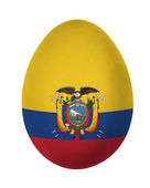 Barevné ekvádor vlajky velikonoční vajíčko izolovaných na bílém pozadí — Stock fotografie