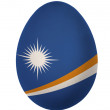Colorful The Marshall Islands flag Easter egg isolated on white background — Stock Photo #20022865