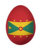 Colorful Grenada flag Easter egg isolated on white background — Stock Photo