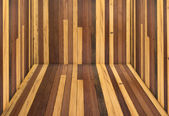Houten vloer kamer — Stockfoto