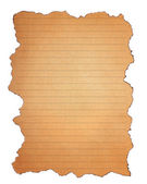 Burn grunge brown paper isolated on white background — Stock Photo