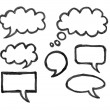 Chat icons drawing on white background — Stock Photo