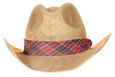 Brown cowboy hat isolated on white background — Stock Photo