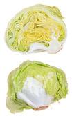 Iceberg lettuce isolated on white background — Stock Photo