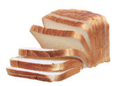Sliced sandwich bread isolated on white background — Stock Photo