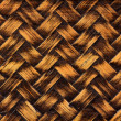 Woven bamboo wicker background — Stock Photo