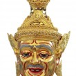 Thai khon mask isolated on white background — Stock Photo