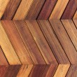 Pattern zigzag wooden wall background — Stock Photo