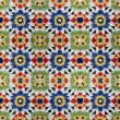 Portuguese Spanich Moroccan style vintage ceramic tile pattern — Stock Photo #35972311