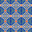 Portuguese Spanich Moroccan style vintage ceramic tile pattern — Stock Photo #35972331