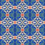 Portuguese Spanich Moroccan style vintage ceramic tile pattern — Stock Photo