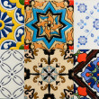 Portuguese Spanich Moroccan style vintage ceramic tile pattern — Stock Photo #35972411