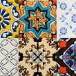 Portuguese Spanich Moroccstyle vintage ceramic tile pattern — Stock Photo #35972411