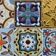 Portuguese Spanich Moroccan style vintage ceramic tile pattern — Stock Photo #35972477