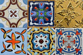 Portuguese Spanich Moroccan style vintage ceramic tile pattern — Stock Photo