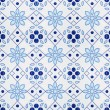 Portuguese Spanich Moroccan style vintage ceramic tile pattern — Stock Photo #35995245