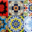 Portuguese Spanich Moroccan style vintage ceramic tile pattern — Stock Photo #35995299