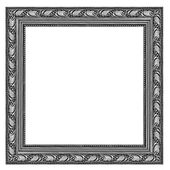 Grey wooden frame isolated on white background — Stock Photo
