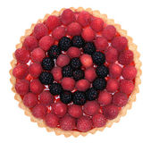 Raspberry and mulberry tart pie — Foto Stock