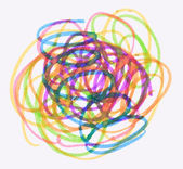 Messy color pen drawing — Stockfoto