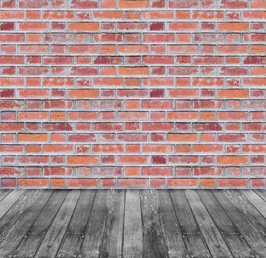 mur de brique rouge brun et fond de plancher en bois noir photographie prapass 44060217. Black Bedroom Furniture Sets. Home Design Ideas