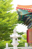 Chinese temple green tree — Stockfoto
