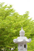 Chinese temple green tree — Photo