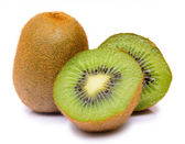 Fresh kiwi isolated on white background — Stock fotografie
