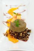 Crispy Thai fusion style dessert rice cake — Stock Photo