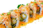 Fusion Salmon sushi maki roll — Stock Photo