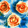 Rose. Watercolor painting. — Stock Photo