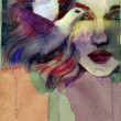 Beautiful woman. watercolor illustration — Stock Photo #34643429