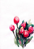 Illustration de .watercolor de fleurs — Photo