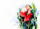 Flowers .watercolor illustration — Stock Photo