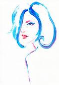 Retrato de la mujer — Foto de Stock