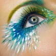 Stock fotografie: Eye macro shot with creative makeup