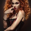 Gothic redhaired beauty — Stock Photo #43944559