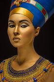 Beauty shot in Egyptian style — Stock Photo