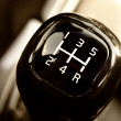 Stock Photo: Manual gear shift
