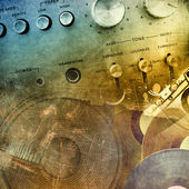 Grunge music background — Stockfoto