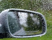 Driving in rain — Stock Photo