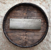 Old beer barrel — Stock Photo