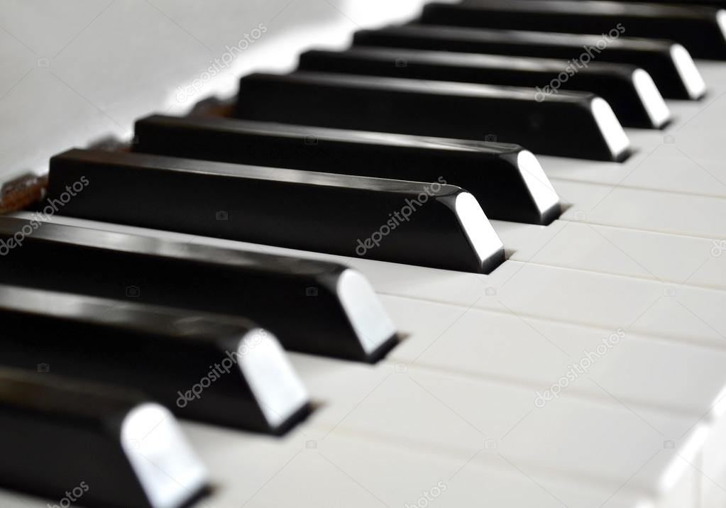 Piano keys close up — Stock Photo #13959436